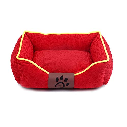 B  SPink day Pet Bed Kennel Removable And Washable Pet Supplies Cat Litter Four Seasons General Multisize Multicolor (color   C , Size   Xl)