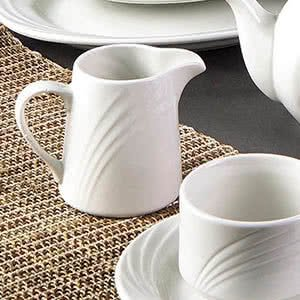 Tabletop King GAD-PC Garden State 6 oz. Bone White Porcelain Creamer - 48/Case