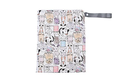 itzy-ritzy-travel-happens-sealed-wet-bag-with-adjustable-handle-raining-cats-dogs-multi