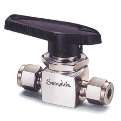 Swagelok B-41S2 Brass 1-Piece 40 Series Ball Valve, 0.2 Cv, 1/8