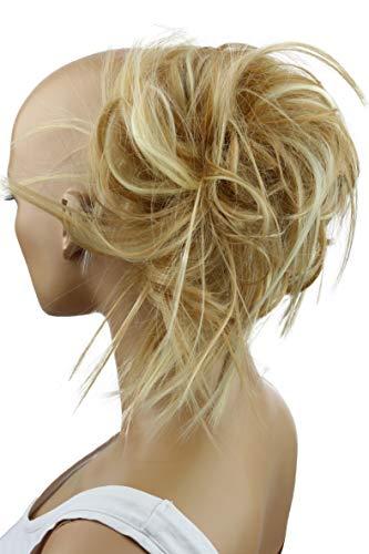 PRETTYSHOP Hairpiece Hair Rubber Scrunchie Scrunchy Updos VOLUMINOUS Wavy Messy Bun blonde mix #27H613 G20F