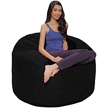 Phenomenal Comfy Sacks 4 Ft Memory Foam Bean Bag Chair Jet Black Cords Gmtry Best Dining Table And Chair Ideas Images Gmtryco