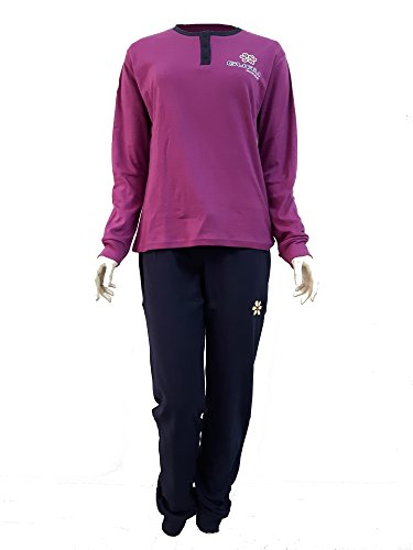 lunga pigiama GURU 2788 interlock caldo donna manica Orchidea art cotone HYnHqRr