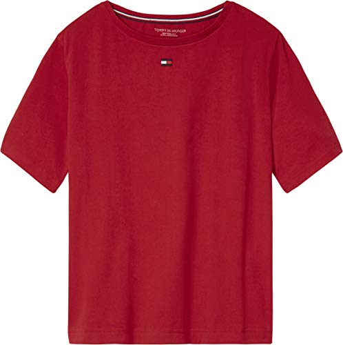 Tommy Hilfiger Colour Blocked Womens Top Large Chili Pepper (Ladies Hilfiger Top Sleepwear Tommy)