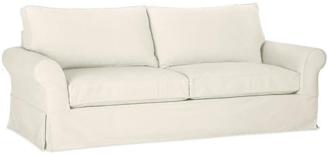 """The Durable Cotton Sofa Cover Only ( Width: 81""""~ 83.5"""", Not 92"""" ! ) Fits Pottery Barn PB Comfort Roll ARM Sofa ( Not Grand Sofa). A Durable Slipcover Replacement. Beige (Box Edge)"""