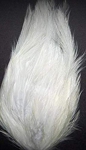 1 Packet of Hackle Crafting Feather Pad - Bright White New Pads - for DIY Craft Costumes Hats Pens Hair Accessories Trim Mask Wedding Home Party Decorations]()