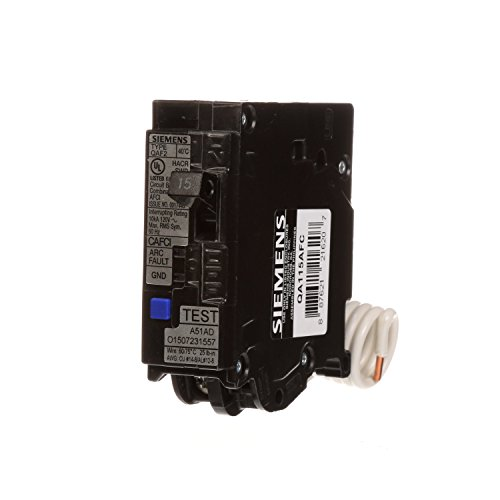 (Siemens QA115AFC 15-Amp Single Pole 120-volt Plug-On Combination AFCI Breaker )