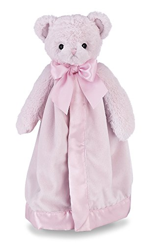 Bearington Baby Huggie Bear Snuggler, Pink Teddy Plush Stuffed Animal Security Blanket, Lovey 15