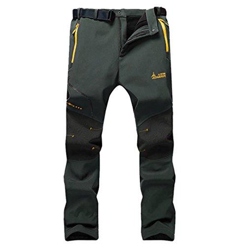 Modern Fantasy Mens Elastic Waterproof Ski Outdoor Soft Sport Fleece Pants M Gray