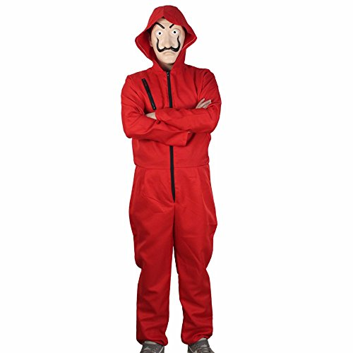 Salvador Dali Movie Costume Money Heist The House of Paper La Casa De Papel Cosplay Halloween Party Costumes with Face Mask