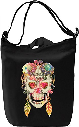 Skull Woodoo Earrings Borsa Giornaliera Canvas Canvas Day Bag| 100% Premium Cotton Canvas| DTG Printing|