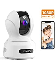Topcony WiFi IP Camera, 1080P HD Home Surveillance Security Camera, CCTV Baby/Pet Camera Monitor with Night Vision, Innovative Motion Detection Two-way Talk, Compatible with Alexa