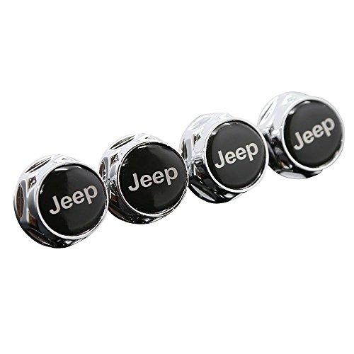 Logo License Plate Bolt - HYFML 4 Pcs Separate Zinc alloy Car License Plate Frame Universal Bolt Screws Fastener For JEEP