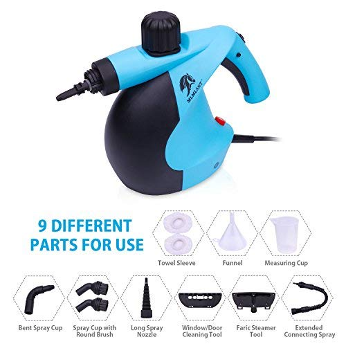 MLMLANT Handheld Pressurized Steam Cleaner with 11-Piece Accessory Set - Multi-Purpose and Multi-Surface All Natural, Chemical-Free Steam Cleaning for Home, Auto, Patio, More by MLMLANTAgent (Image #3)