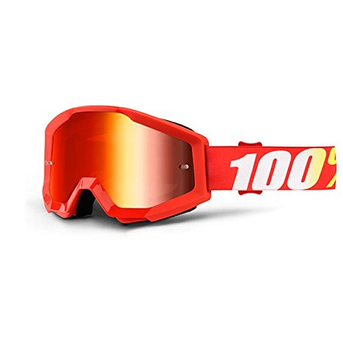 100% Strata Furnace MTB Unisex Adult Mask, Red 100AC|#100% 50410-232-02