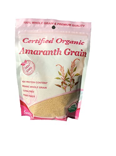 Certified Organic Amaranth Grain Net Wt 16 oz, USDA Organic 100% Whole Grain & Premium Quality by Sweetheart