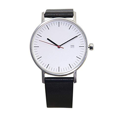 irugh Quartz Watch, Swiss Original Movement Sapphire Glass high-end Men's Leather Watch Deep Waterproof