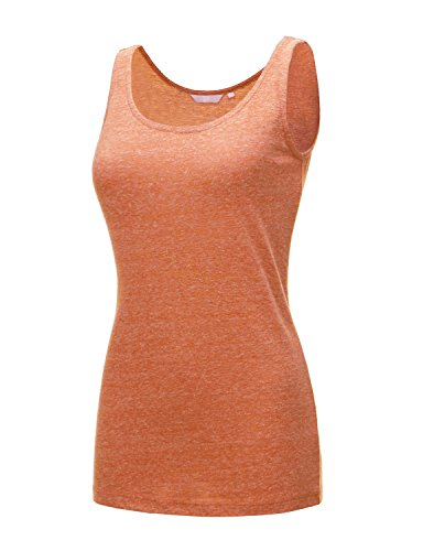 (Regna X Love Coated Women's Slashed Ripped Cut Cap Sleeve T-Shirt Orange XLarge)