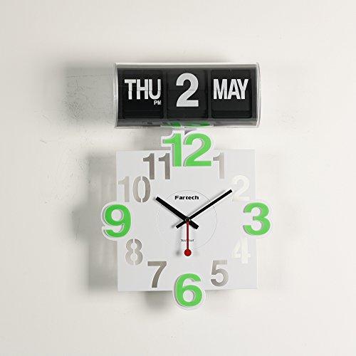 FARTECH Auto Calendar Flip Clock AD-801 ()