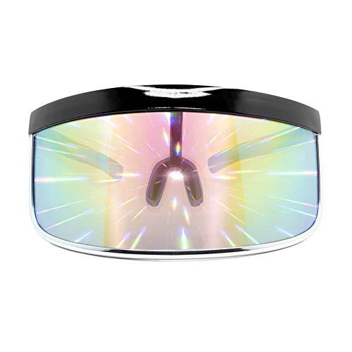 GloFX Diffraction Goggles - Rave Steampunk EDM Welder Gothic Raver Costume - Chrome Copper White Black
