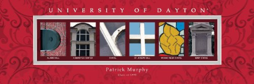 University of Dayton Personalized Framed Architecture Print in Wood Frame