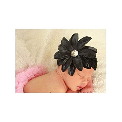 Diadema + Barrette bebé/niña, modelo Tropical negro