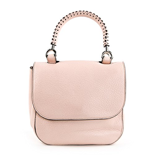 Max Mara Women's TOP01S Leather Top Handle Bag One Size Pale Pink