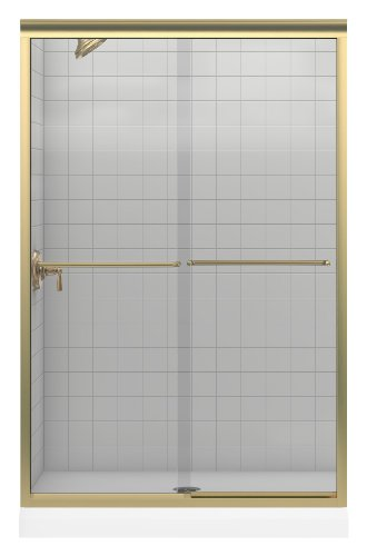 KOHLER K-702208-L-ABV Fluence Frameless Bypass Shower Door, Anodized Brushed Bronze