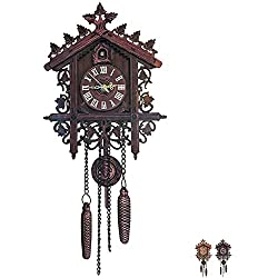 YAYONG Cuckoo Swing Wall Clock Modern Design Nordic Style Living Clock for Home Unicorn Restaurant Vintage Art Decoration