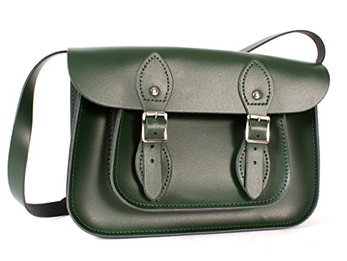 Oxbridge Satchel Shop, Borsa a secchiello donna verde small