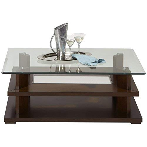 Progressive Furniture P404-01 Delfino Castered Cocktail Table, Burnished Cherry