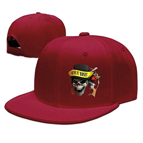 Unisex Guns N' Roses Skull Logo Appetite For Destruction Flat Bill Adjustable Hat
