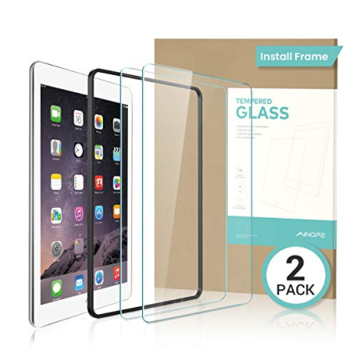 AINOPE iPad Pro 10.5 Screen Protector [2-Pack] [Easy Installation Frame] [Scratch-Resistant] 9H Hardness HD Clear iPad Air 3 2019 Tempered Glass Screen Protector Compatible with Apple iPad Pro 10.5