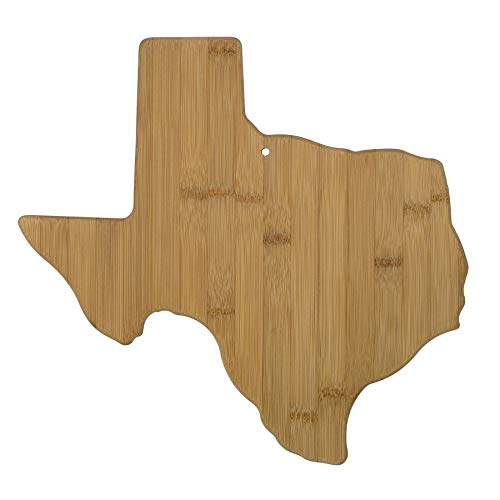 Totally Bamboo 20-7957TX Texas State Shaped Bamboo Serving & Cutting Board, ()