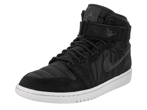 NIKE Jordan Men's Air Jordan 1 High Strap Black/Black/Pure/Platinum Basketball Shoe 10 Men US by NIKE