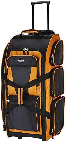 Travelers Club Xpedition 30 Rolling Travel Duffel Bag, Burnt Orange, 30 Inch