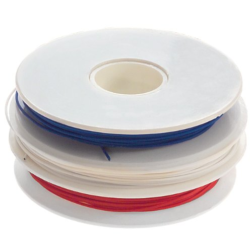Jonard R-30-TRI Replacement Red, White, Blue Kynar Wire Roll for WD-30-TRI Series, 30 AWG, 50' Long