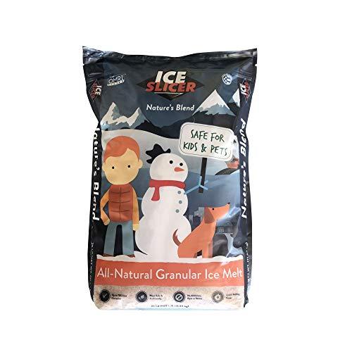 REDMOND Ice Slicer - Ice Melt Salt, Kid & Pet Safe Deicer, All-Natural Granular Ice Melt (25 LB) ()