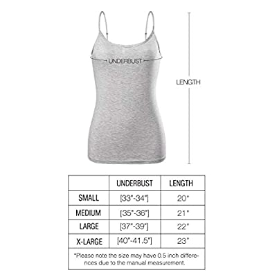 Air Curvey Basic Camisole for Women Cami Tanks Adjustable Spaghetti Strap Tank Tops at Women's Clothing store
