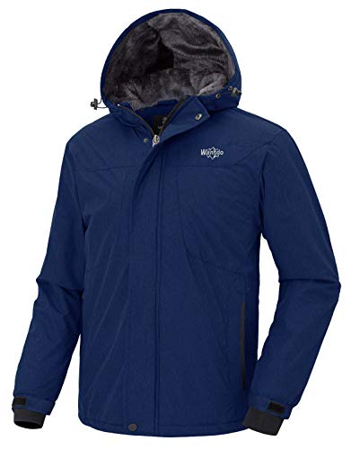- Wantdo Men's Insulated Skiing Jacket Outdoor Windproof Hiking Coat Dark Blue S