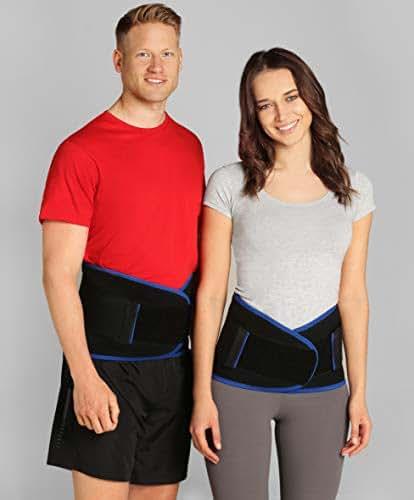 ®BeFit24 Premium Soft Lumbar Support Belt for Lower Back Pain - Flexible Sciatica Pain Relief Brace - Best for Work, Walking, Gardening, Sports - [ Size 2 - Black ]