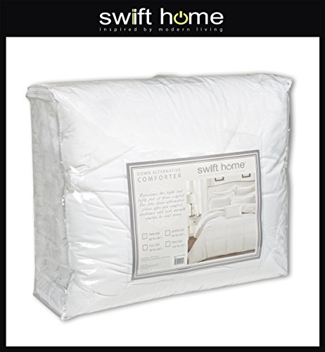 Swift Home All-Season Extra Soft Luxurious Classic Light-Warmth Goose Down-Alternative Comforter, Queen 90'' x 90'', Navy by Swift Home (Image #4)'