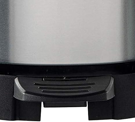 CURVER 02120 Metallics - Cubo de la Basura con Pedal (20 litros), Color Plateado metálico: Amazon.es: Hogar