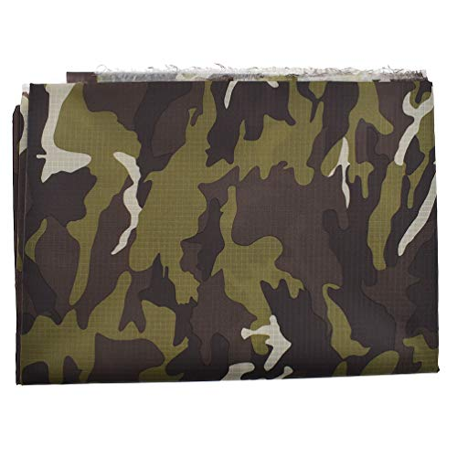 (Qlyhcee Camouflage Military Ripstop Water Resistant Fabric Waterproof Material)