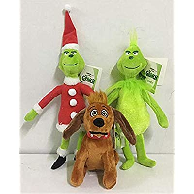 Christmas Doll How the Grinch Stole Stuffed Plush Toy Xmas Kids Gifts (Grinch with Scarf): Toys & Games