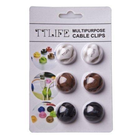 TTLIFE Multi purpose Cable Clips Espresso product image