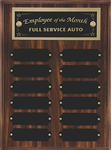 Woltman - Walnut Finish 12 Plate Perpetual Plaque