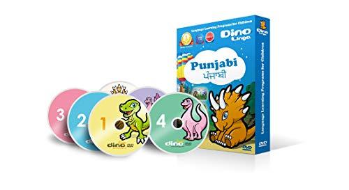 Dino Lingo Punjabi DVDs for Children - Learn Punjabi for Kids DVD Set (6 DVDs)