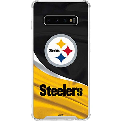 Skinit Pittsburgh Steelers Galaxy S10 Plus Clear Case - Officially Licensed NFL Phone Case - Transparent Galaxy S10+ Cover