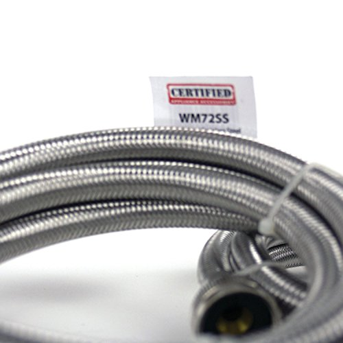 Certified Appliance Accessories Braided Stainless Steel Washing Machine Hoses, 6ft by Certified Appliance Accessories (Image #7)